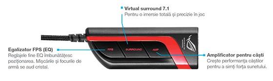 Vulcan PRO adaugă procesorul audio USB ROG Spitfire care nu necesită instalarea de drivere. Design-ul său ajută la o instalare rapidă în cadrul evenimentelor de gaming sau pe notebook-urile și PC-urile prietenilor.