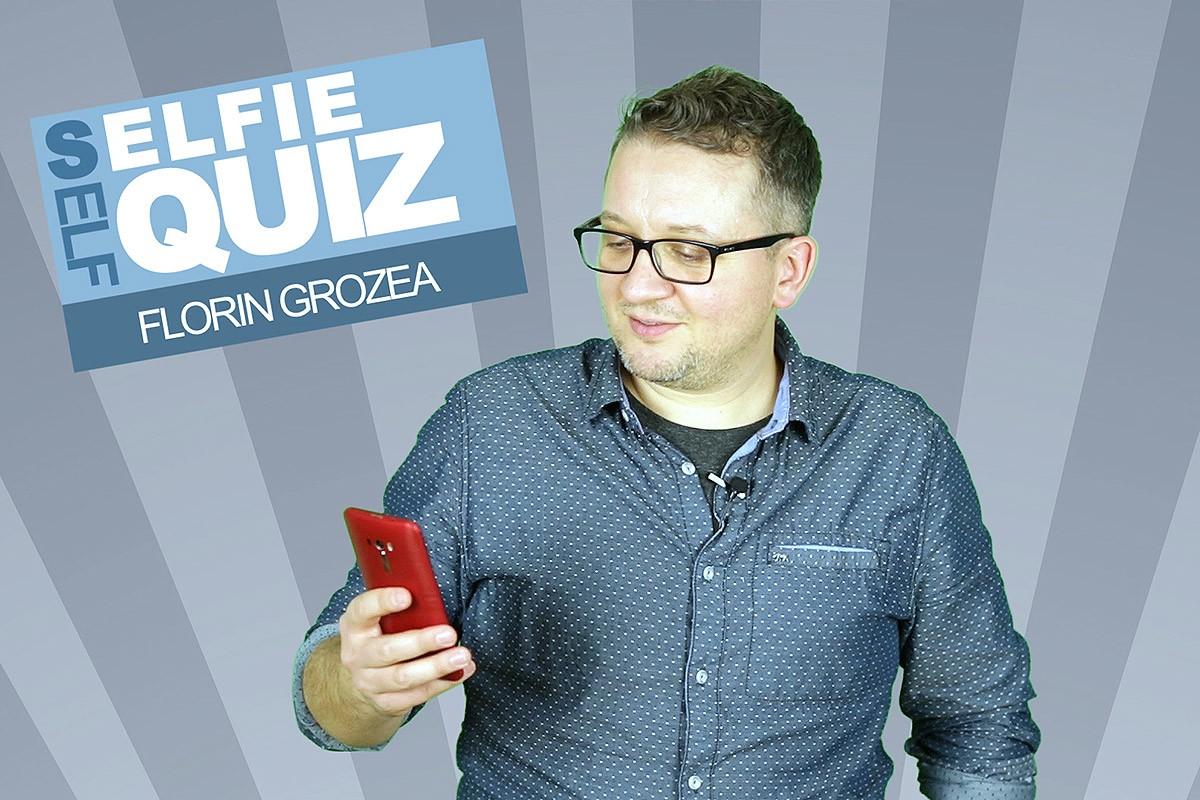 Florin Grozea cu telefonul ASUS ZenFone Selfie