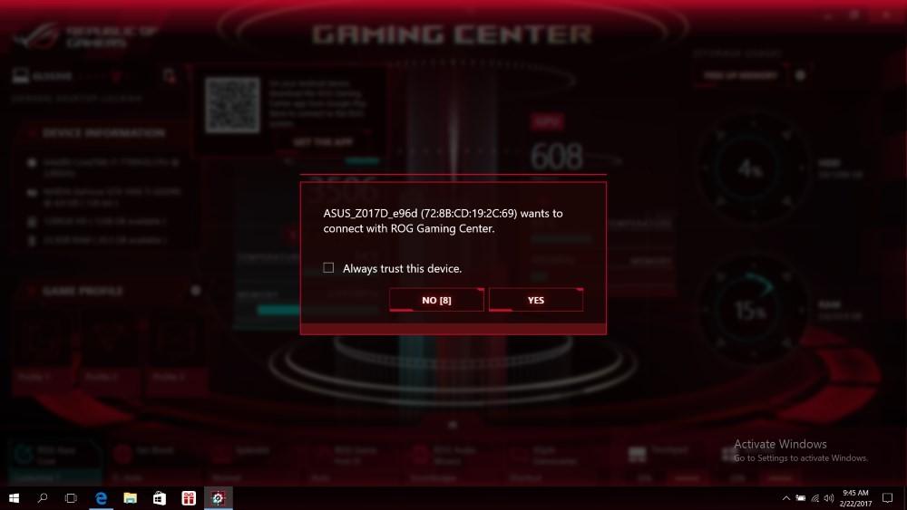 Controlează calculatorul cu ASUS Gaming Center