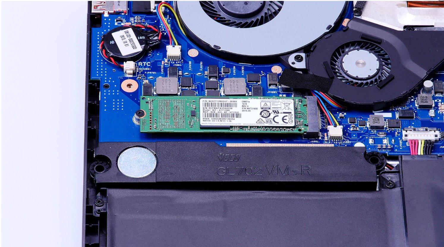 ROG GL702V - memoriile SSD M.2