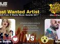 Votează artistul preferat în lupta pentru titlul MOST WANTED ARTIST la Media Music Awards