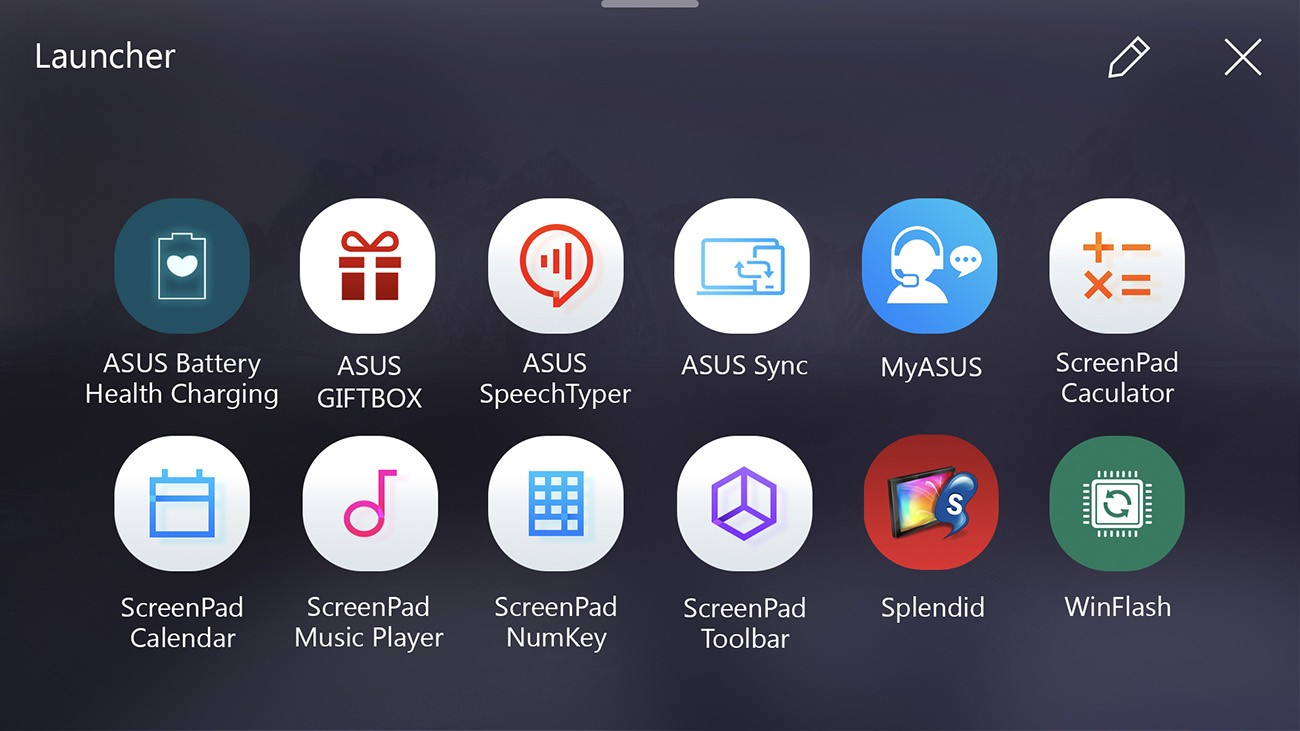ASUS ScreenPad Launcher