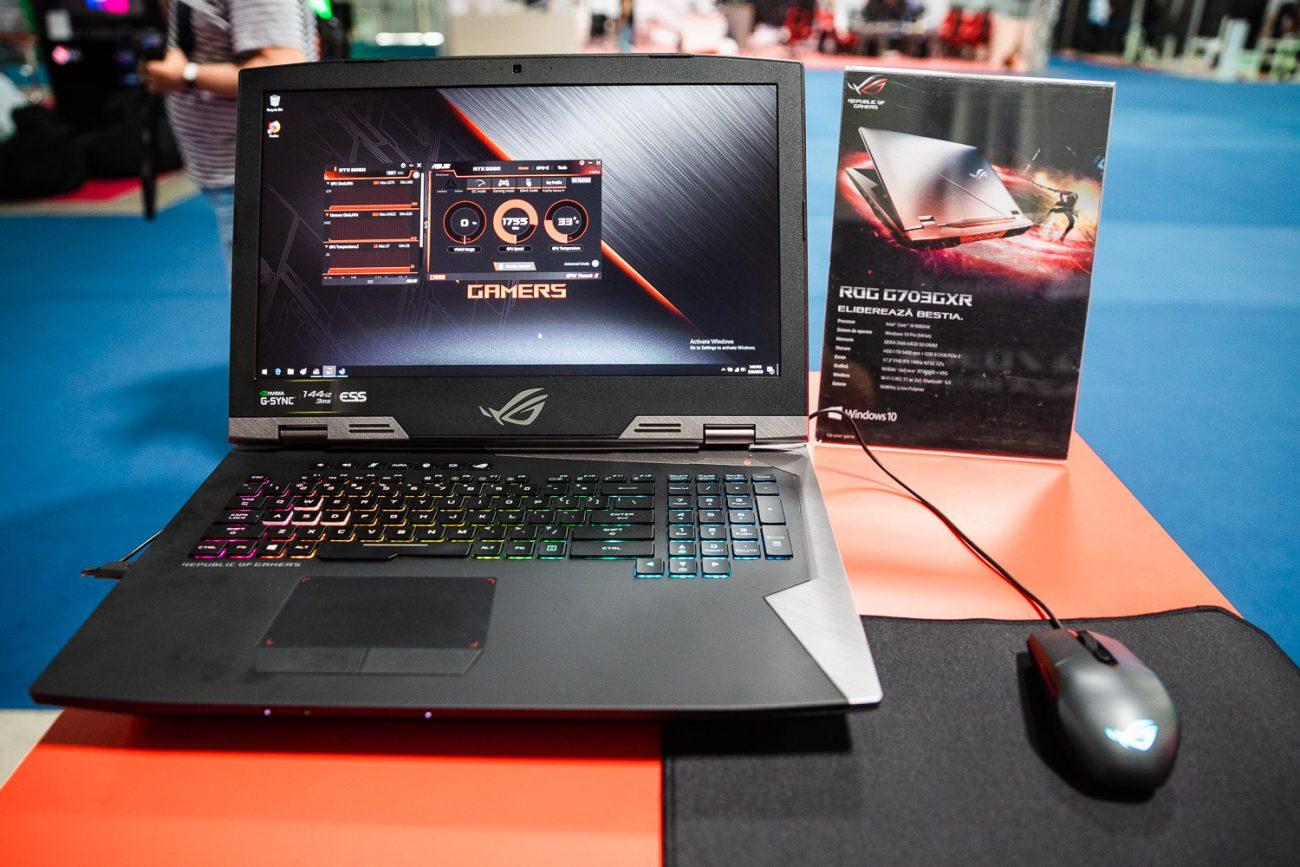 Laptopul ROG G703GXR prezentat în premieră în România la East European Comic Con 2019