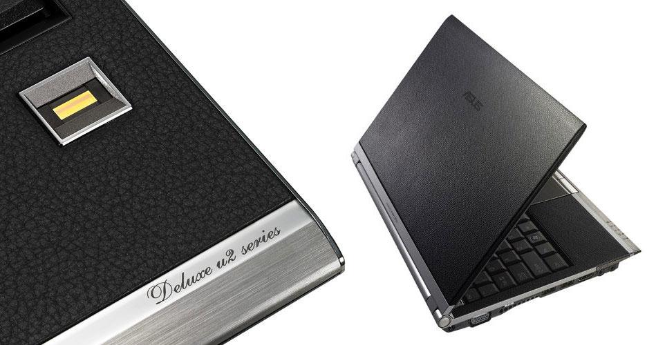 Laptopul ASUS U2E acoperit cu piele