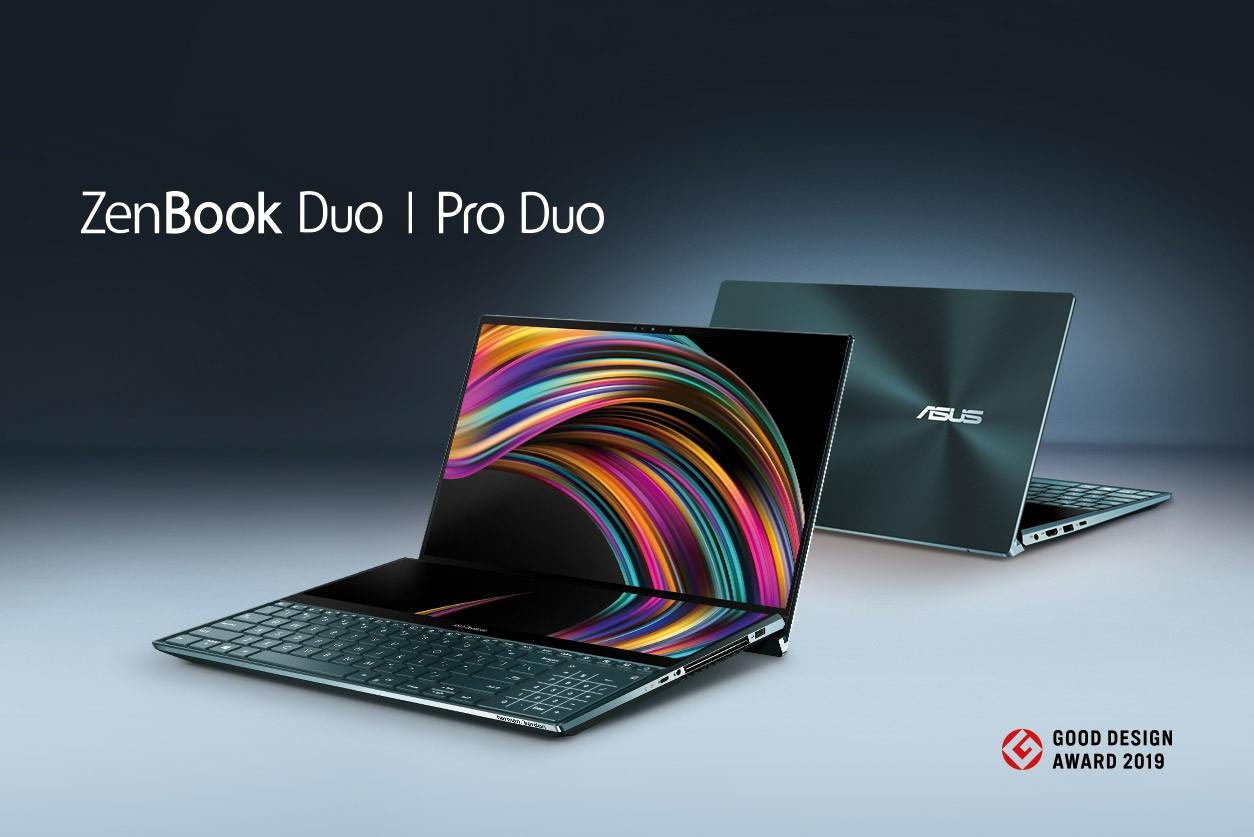 ASUS ZenBook Pro Duo și ZenBook Duo Good Design Award