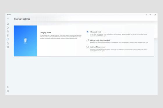 Aplicația MyASUS - Hardware
