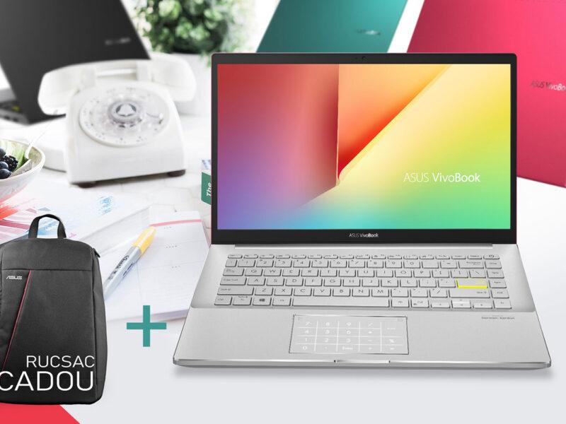 ASUS VivoBook S14 cu rucsac cadou