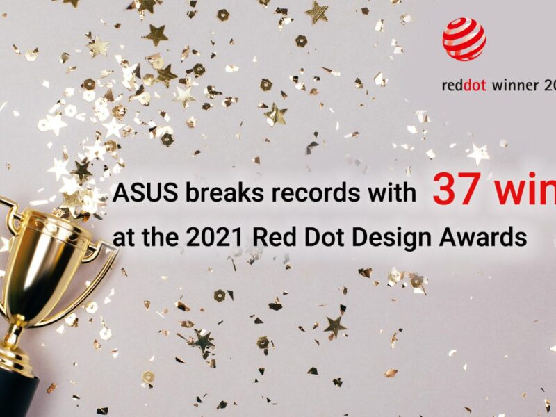 ASUS sparge recordul la Red Dot Design Awards 2021