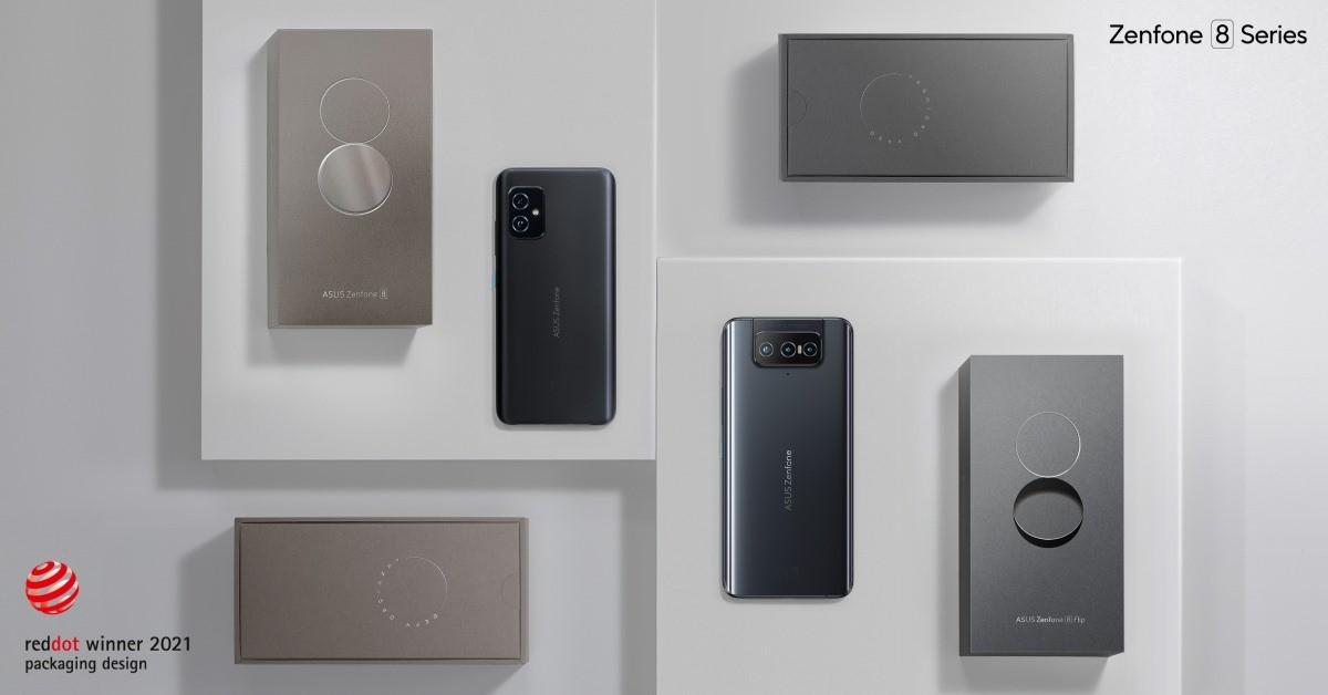 Red Dot Packaging Design Award 2021 pentru cutiile telefoanelor Zenfone 8