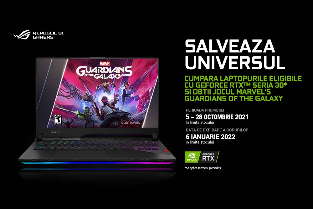 Promotie NVIDIA - MARVEL'S GUARDIANS OF THE GALAXY